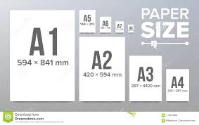 A4 Paper Size Paper Sizes Vector Paper Size Standards Isolated