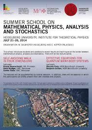 heidelberg summer school on mathematical physics 2016