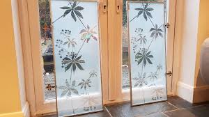 2 x frosted glass doors for ikea billy bookcase