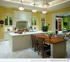 Small Picture 15 Beautiful Kitchen Island with Table Attached Beautiful