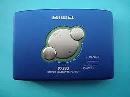 aiwa hs px380 cassette player blue wm sony walkman what s it worth aiwa hs px380 cassette player blue wm sony walkman