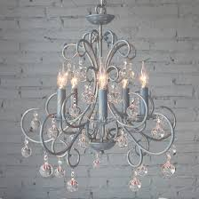 antique 5 light wrought iron blue crystal chandelier intended for antique wrought iron and crystal chandeliers