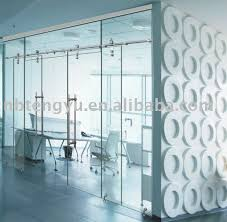 photos of frameless sliding glass door