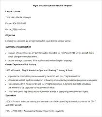 Sample Flight Simulator Operator Resume Template