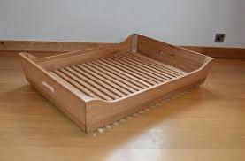 wood dog bed frame hand made solid oak wooden plans