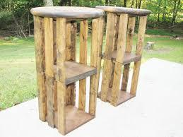 rustic wood bar stools. 🔎zoom Rustic Wood Bar Stools H