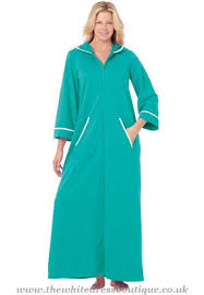 plus size robes women hooded french terry long robe by dreams co plus size