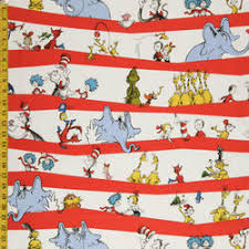 DR Seuss Characters ON RED Wavy Stripes Kaufman NEW Cotton ... & DR Seuss Characters ON RED Wavy Stripes Kaufman NEW Cotton Quilting Fabric  FQ | eBay Adamdwight.com