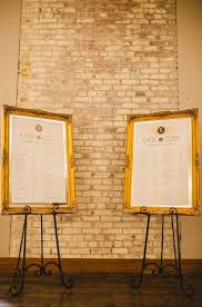 Gold Ivory Wedding Seating Charts On Big Gold Frames And