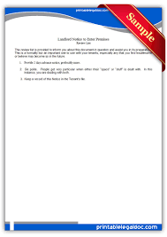 notice to tenant to make repairs templates free printable landlord notice to enter premises forms