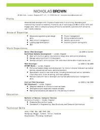 Simple Job Resume Examples Svoboda2 Com