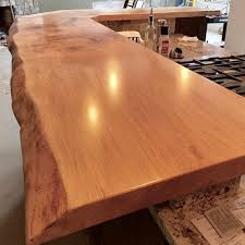 live edge maple kitchen countertop