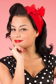 1940s hairstyles history of women s hairstyles vine 50s retro hair scarf in red 5 26