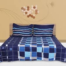just linen blue queen size 108 x 90 inches duvet cover set 6 pieces souq uae