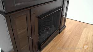real flame lannon ventless gel fireplace in dark walnut the home depot you