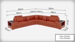 G8023b Wohnlandschaft Couch Ledersofa Sofa Design Couch Eck
