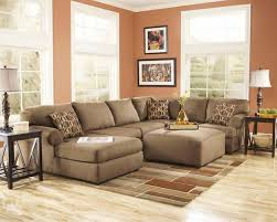 elegant ashley furniture sets sectional cream sofas chaise for family room  ideas with laminate bamboo floor