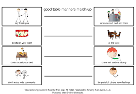 teaching good table manners for better social skills during the good table manners template 2