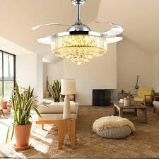 ceiling fan chandelier crystal retractable living room philippines