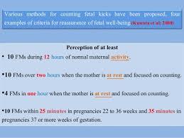 Decreased Fetal Movements