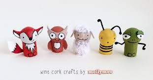 Remarkable Five Animals Along With Mollymoocrafts Wine Cork Crafts Set in  Wine Cork Crafts