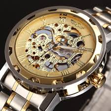 skeleton watches men reviews online shopping skeleton watches winner golden watches men skeleton mechanical watch stainless steel top brands luxury man watch montre homme wristwatch