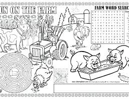 Coloring Pages Farm Farm Coloring Pages Farm Tractor Coloring Pages