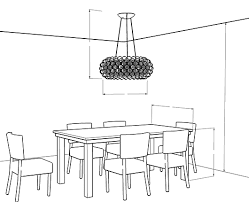 chandelier size calculator table shape