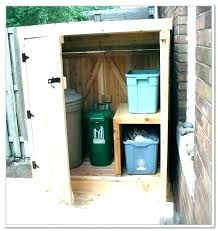 outside trash can storage outdoor garbage home depot refuse shed bin plans