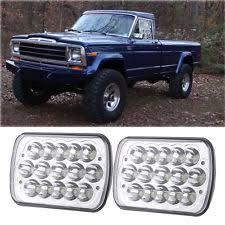 car truck lighting lamps for jeep j10 2pcs 7 x6 led headlight hi lo beam for jeep j10 j20 c che wagoneer fits jeep j10