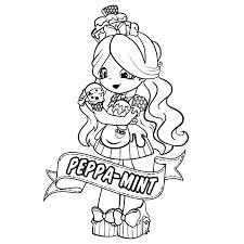 Peppa Mint Diy Crafting Kleurplaten Shopkins En Tekenen