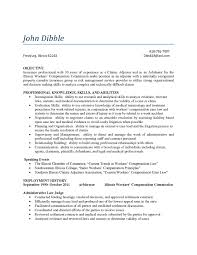 Claims Adjuster Resume Templates Surprising Objective Examples