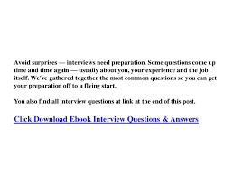 Preparation For Accounts Interview Accountancy Interview Questions And Answers