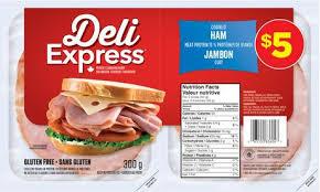 Walmart Deli Nutrition Chart Maple Leaf Deli Express Cooked Ham Walmart Cornershop