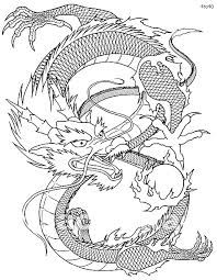Small Picture Drawn chinese dragon coloring page Pencil and in color drawn