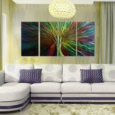 Metal Wall Decorations For Living Room Handmade Abstract Group Tree Of Life Metal Wall Art With Warm