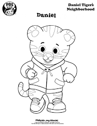 Daniel Tiger Valentine Coloring Page Free Pages Pdf Trolley Sheet