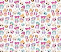 cute pastel pattern wallpaper. Simple Cute Cute Pastel Colored Girls Geisha Pattern With Bunny Cat And Cherry Blossom  Colorful Illustration Print Fabric With Pastel Pattern Wallpaper S