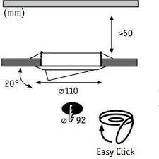 <b>Точечный поворотный светильник</b> Paulmann 98970: технические ...
