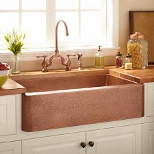 hammered copper farmhouse sink. 35\ Hammered Copper Farmhouse Sink M