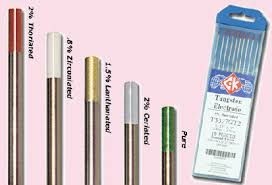 welding consumeables tig rods and tungstens what s unusual about tungsten is the variety of exotic alloys used to influence its performance in order to distinguish one from another a color code has