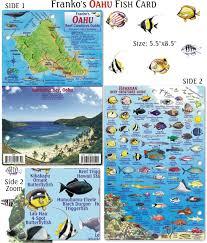 Oahu Fish Chart Oahu Fish Card Frankos Fabulous Maps Of Favorite Places