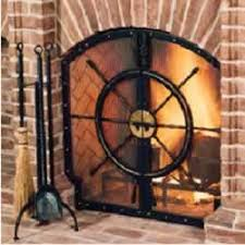 Unique fireplace screens Iron Glenn Gilmore Designed Ships Wheel Into The Fireplace Screen For Room With Nautical Theme Photo Mcnabb Studio The Fabricator Unique Fireplace Items Can Fire Up Your Income
