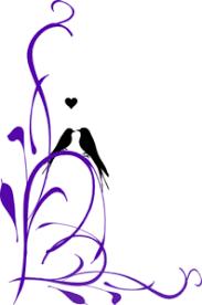 purple love birds clipart. Delighful Clipart Love Birds On A Branchpurple Clip Art Purple Clipart