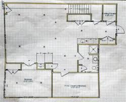 basement remodel day electric rough in one project closer here s a diagram of the plan for this space and a picture post framing to refresh your memory on our progress to date