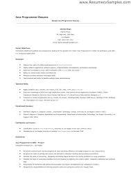 sample computer programmer resume programmer resume programmer operator resume programmer cv template