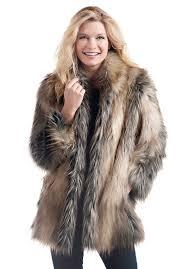 pieced fox shawl collar faux fur jacket 1