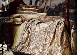 isleep 100 pure cotton jacquard comforter set gold