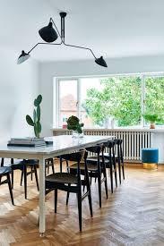 Esszimmer Einrichten Skandinavisch Modern Schwarz Weiß Holzstühle