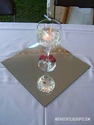 Mirror Tiles For Table Decorations Wedding Crafts An Inexpensive Reception Mad in Crafts 26